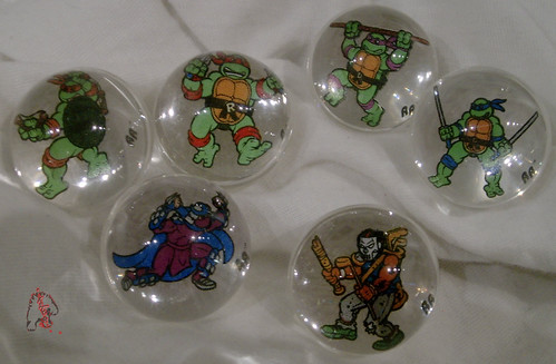RAD ROLLERS,Collectable Action Marbles :: Teenage Mutant Ninja Turtles COLLECTION Series-1 // GROUP  ((1991 ))