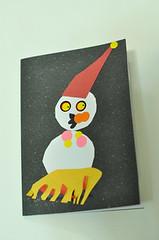 20091220-zozo做的雪人卡片 (2)