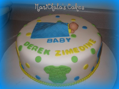 Fondant Cake- Baby Shower Baby Boy