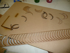 Laser cut wood spirals