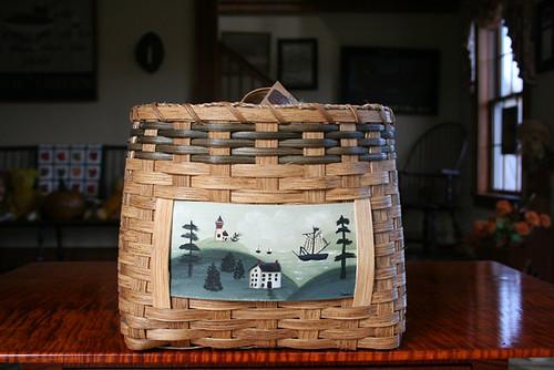 Sheldon Farm Handcrafted Basket a24