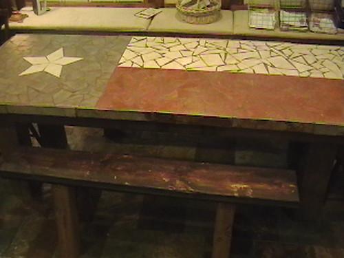 Texas flag dining table