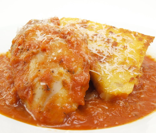 Polenta with Chicken and Tomato Sauce