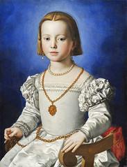 Bronzino - Portrait of Maria di Cosimo I de' Medici [~1545] (petrus.agricola) Tags: de florence daughter duke uffizi cosimo medici bia illegitimate bronzino i