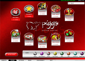 Piggs Casino Lobby