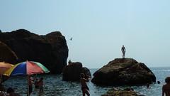 Strand op de Krim
