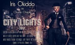 Remake . . . (Iris Okiddo) Tags: iris okiddo charlie chaplin city lights movie slapstick comedy skyline skyscrapers bowler derby moustache walking cane laughter