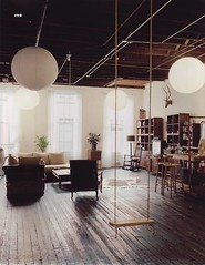 Indoor swing (ouno design) Tags: wood white loft design interior room indoor swing lanterns decor insideinsidetumblrcom