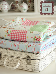 summer quilts-ready for a picnic (cottonblue) Tags: summer quilt handmade sewing fabric blanket chic shabby
