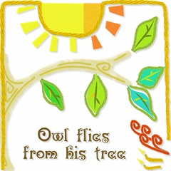 1 Owl flies from his tree