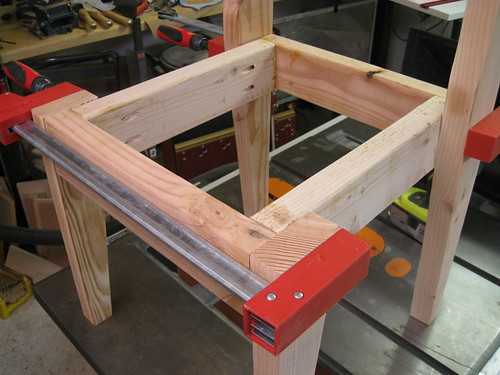 Bessey K-Body clamps test fitting chair