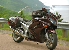 FJR (jonn46) Tags: motorcycle yamaha touring fjr cabottrail darkcherry