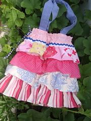 Mala ML202 (KariKato) Tags: pink summer primavera bag spring artesanato rosa craft carteira verão bolsa saco mala tecido folhos karikato