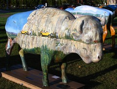 "Part of the ""Where the Painted Buffalo Roam"" exhibit, West Yellowstone, Montana (IMG_1571a) (Alaskan Dude) Tags: travel art buffalo montana wildlife westyellowstone paintedbuffalo wherethepaintedbuffaloroam"