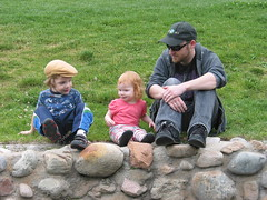 Gavin, Lilah, Daddy on the wall