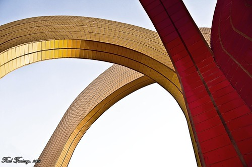 yellow & red arches