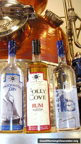 Knockabout Gin, Folly Cove Rum and Beauport Vodka