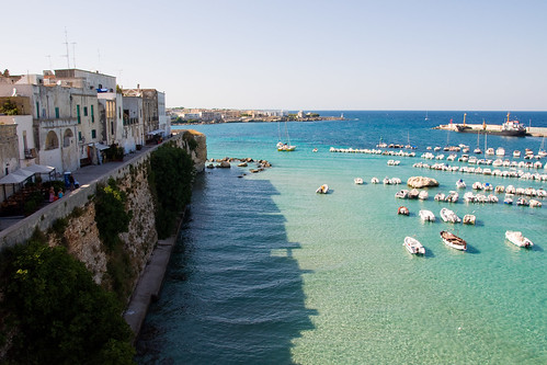 The city of Otranto and its sea