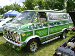 1974 Chevy C-20 Van (splattergraphics) Tags: 1974 chevy c20 van carshow custompaint customvan hanoverpa emeraldexpress chickenshow stdavidslutheranchurch