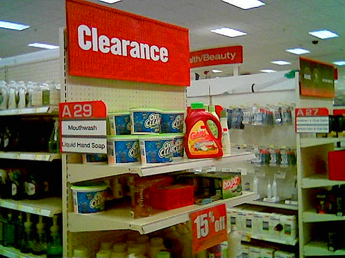 Oxiclean is now on clearance at Target