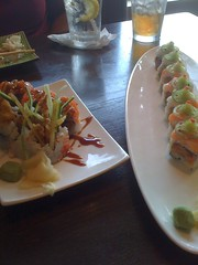 Spider roll and Hoppin' Jalapeno roll from Ginger Pad.