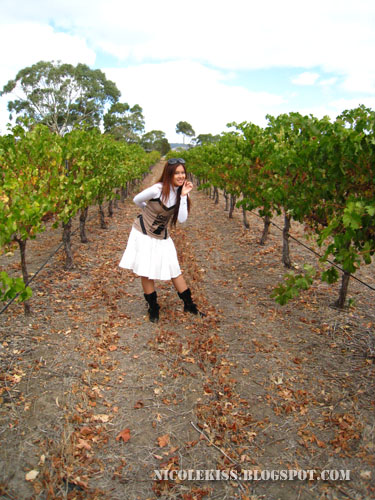 me posing in between vines