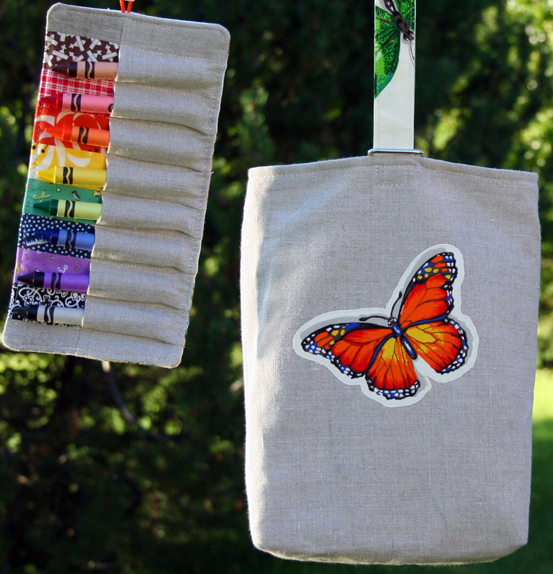 crayon roll and tote - giveaway