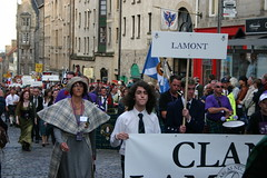 Clan Lamont at The Clan Parade - The Gathering 09