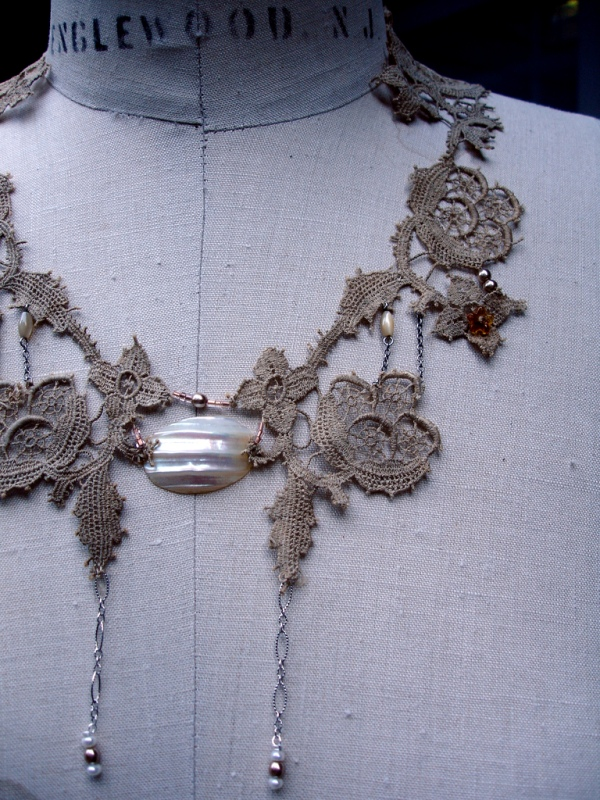 lace necklace by BitterBethany