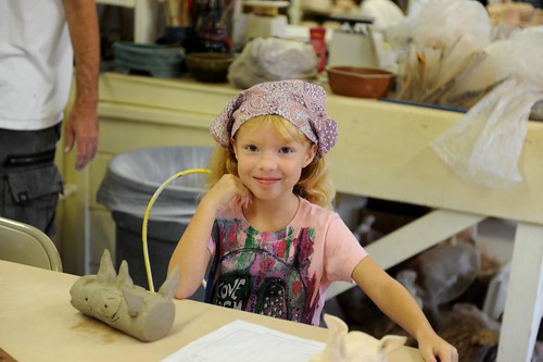 Hope's first day of zoo clay class