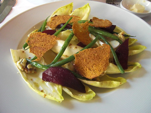 Salad of Endive, Roquefort and Poached Pear