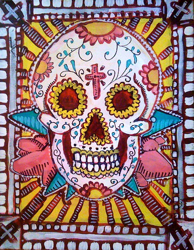 mexican skull tattoo. mexican skulls