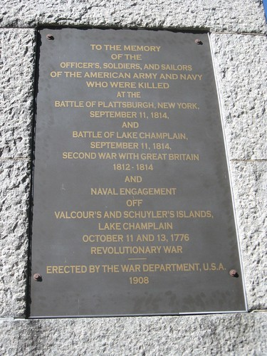 Battle of Plattsburgh plaque