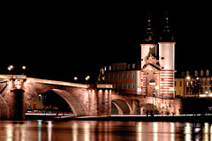 Heidelberg bridge (francesco.ca) Tags: old city travel bridge blue autumn sky reflection building brick tower castle history monument water beautiful architecture night facade river germany lights town sandstone gate europe european cityscape view place famous ruin landmark palace medieval illuminated historic german romantic heidelberg neckar