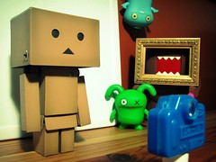 Picture Day (willycoolpics.) Tags: camera toy day picture ox domo picnik uglydolls babo danbo danboard