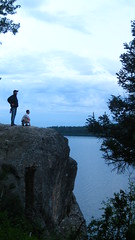 Jumping Rock (Drewboy64) Tags: camping sky mountain lake nature rock clouds standing evening jumping view awesome horizon posing tent adventure explore backpacking backcountry gazing epic