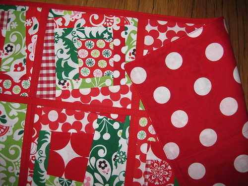 tablerunner christmas w backing