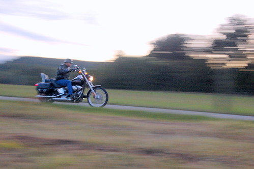 A Motorcycle in Motion
