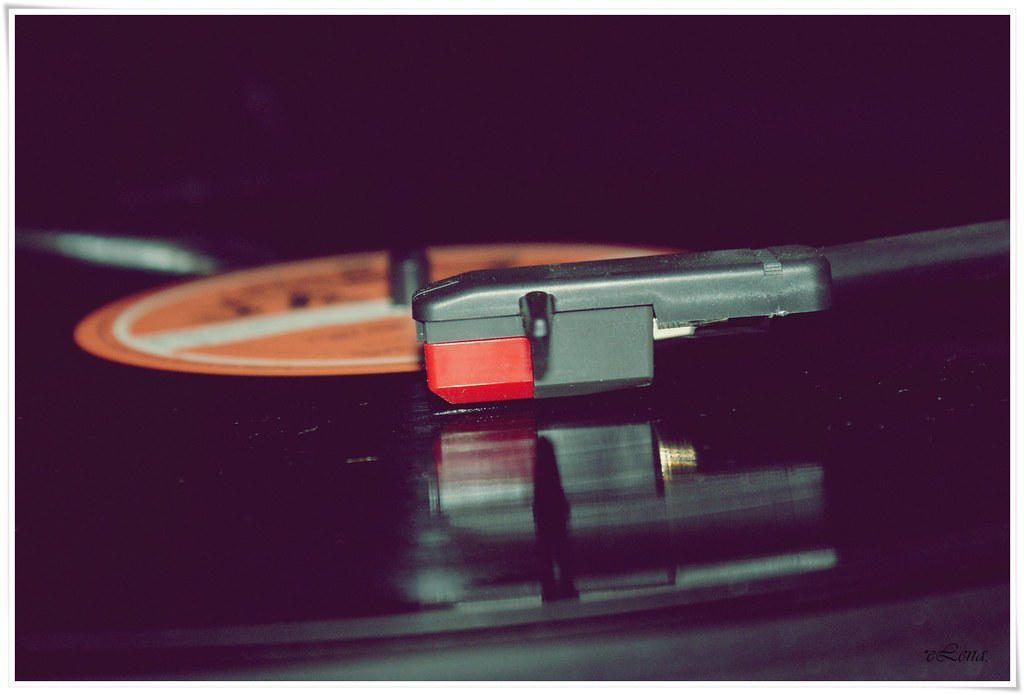 un disco de vinilo..