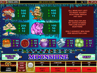 free Moonshine slot mini symbol