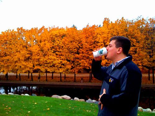 Minnesota: Fall Stroll & Caribou Cofee