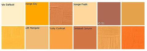 Orange paint: Designers' favorite colors