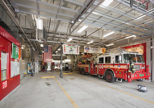 Inside the firehouse. ()