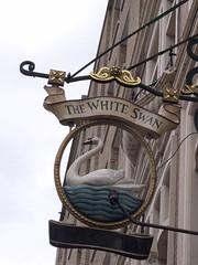 The White Swan - Vauxhall Bridge Road, Pimlico, London - pub sign (ell brown) Tags: greatbritain england london sign pub unitedkingdom victoria pimlico tatebritain publichouse thewhiteswan cityofwestminster randomhouse greaterlondon sw1v vauxhallbridgerd 16vauxhallbridgerd