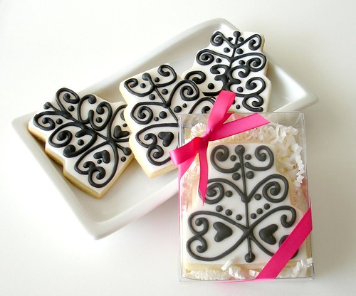 Black & White Cake cookies