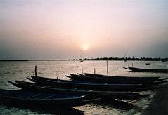 Sunset in Kandiadiao / Senegal (Colognid) Tags: africa sunset lake film boats see boote westafrica gambia afrika senegal thegambia abendstimmung fischerboot fisherboats colognid
