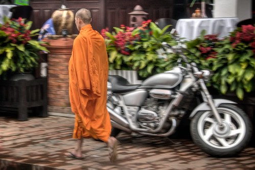 Monk and a Motorcycle