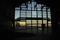 Looking out from the Casino (Turukhtan) Tags: abandoned beach buildings seaside newjersey decay empty asburypark casino boardwalk heatingplant