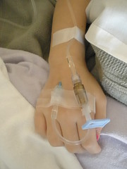 Sophia's Hand with IV