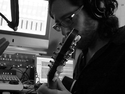 Daniel Barrett in the Studio